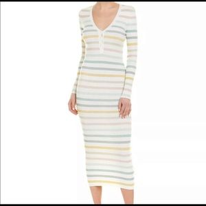 Ronny Kobo metallic striped dress 👗